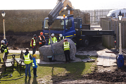 Eastbourne war Memorial - stone delivery